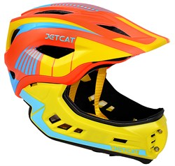 Шлем JetCat Raptor orange/yellow/blue - фото 5993