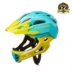 Шлем CRATONI C-MANIAC FULL FACE turquoise-yellow glossy - фото 6456