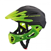 Шлем CRATONI C-MANIAC FULL FACE black-lucentgreen matt