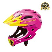 Шлем CRATONI C-MANIAC FULL FACE pink-yellow glossy